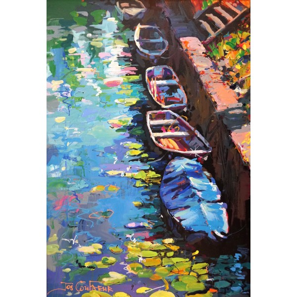 Boats and waterlilies