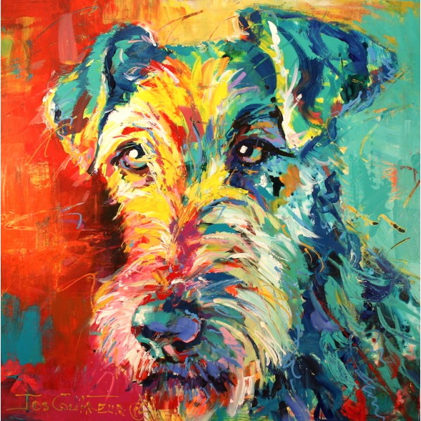 Canvas Print Irish Terrier